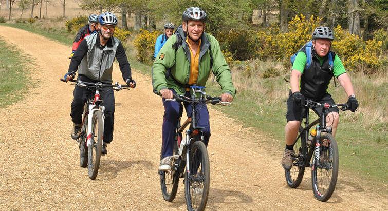 Motionister på cykel